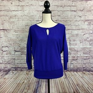 Worthington Purple Semi Sheer Chiffon Blouse